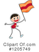 Flag Clipart #1205749 by Graphics RF