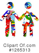 Royalty-Free (RF) Flag Clipart Illustration #1265313