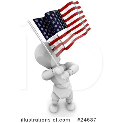 Royalty-Free (RF) Flag Clipart Illustration by KJ Pargeter - Stock Sample #24637