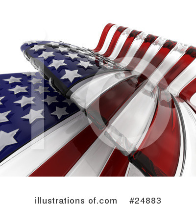 American Flag Clipart #24883 by KJ Pargeter