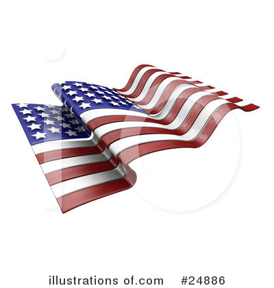 American Flag Clipart #24886 by KJ Pargeter
