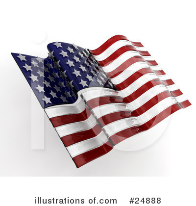 American Flag Clipart #24888 by KJ Pargeter