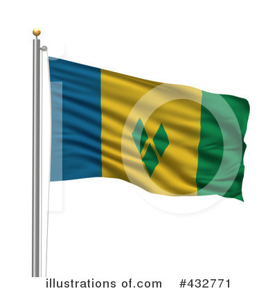 Royalty-Free (RF) Flag Clipart Illustration by stockillustrations - Stock Sample #432771