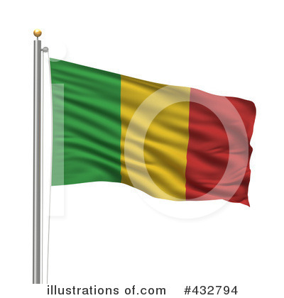 Royalty-Free (RF) Flag Clipart Illustration by stockillustrations - Stock Sample #432794