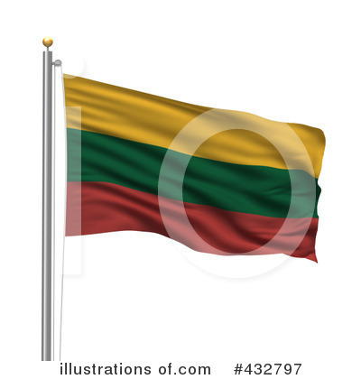 Royalty-Free (RF) Flag Clipart Illustration by stockillustrations - Stock Sample #432797
