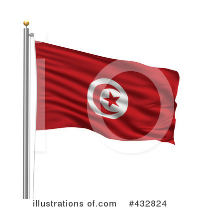 Royalty-Free (RF) Flag Clipart Illustration by stockillustrations - Stock Sample #432824