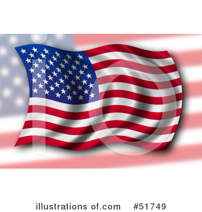 American Flag Clipart #51749 by stockillustrations