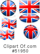 Royalty-Free (RF) Flag Clipart Illustration #51950