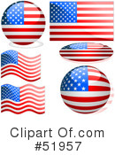 Royalty-Free (RF) Flag Clipart Illustration #51957