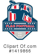 Flag Football Clipart #1419866 by patrimonio