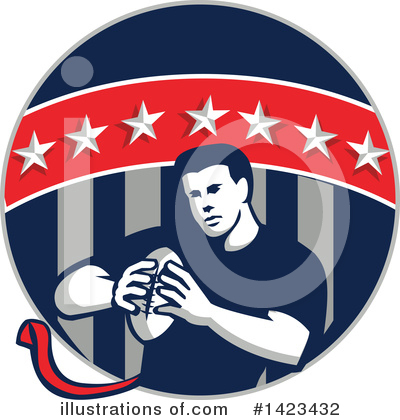 Football Clipart #1423432 by patrimonio