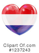 Royalty-Free (RF) Flag Heart Clipart Illustration #1237243