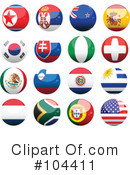 Royalty-Free (RF) Flags Clipart Illustration #104411