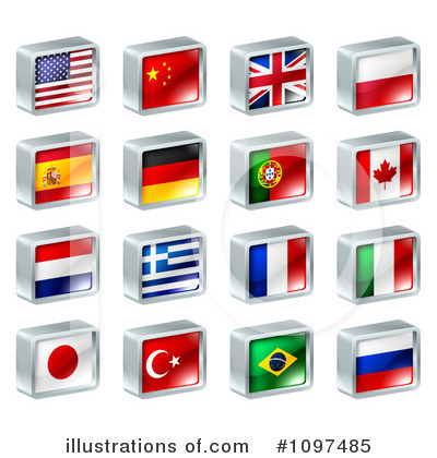 Flag Clipart #1097485 by AtStockIllustration