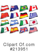 Flags Clipart #213951 by stockillustrations