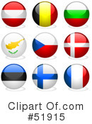 Royalty-Free (RF) Flags Clipart Illustration #51915