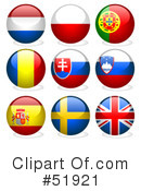 Royalty-Free (RF) Flags Clipart Illustration #51921