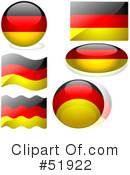 Royalty-Free (RF) Flags Clipart Illustration #51922
