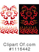Royalty-Free (RF) flames Clipart Illustration #1116442