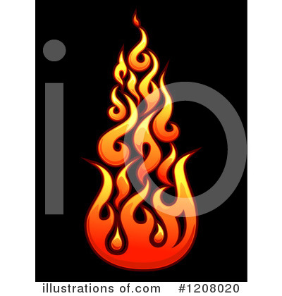 Flames Clipart #1208020 by BNP Design Studio   Royalty-Free (RF) Stock ...