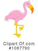 Royalty-Free (RF) Flamingo Clipart Illustration #1087790
