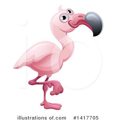 Royalty-Free (RF) Flamingo Clipart Illustration by AtStockIllustration - Stock Sample #1417705
