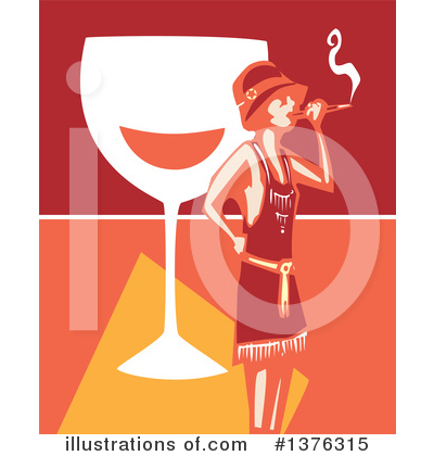 Royalty-Free (RF) Flapper Girl Clipart Illustration by xunantunich - Stock Sample #1376315