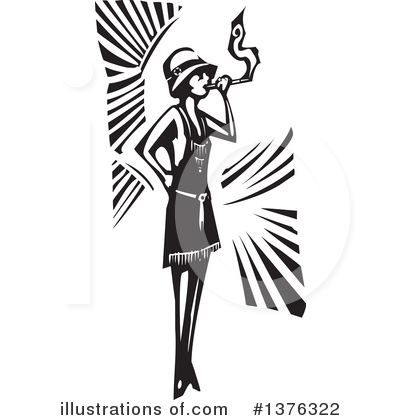 Flapper Girl Clipart #1376322 by xunantunich