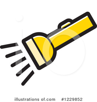 Royalty-Free (RF) Flashlight Clipart Illustration by Lal Perera - Stock Sample #1229852
