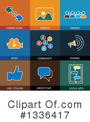 Flat Icons Clipart #1336417 by ColorMagic