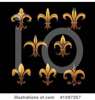 Fleur De Lis Clipart #1097357 by Vector Tradition SM