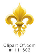 Royalty-Free (RF) fleur de lis Clipart Illustration #1111603