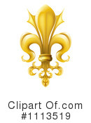 Royalty-Free (RF) fleur de lis Clipart Illustration #1113519