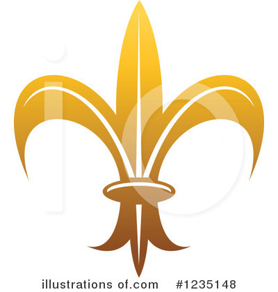 Royalty-Free (RF) Fleur De Lis Clipart Illustration by Vector Tradition SM - Stock Sample #1235148