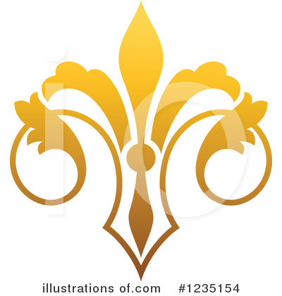 Royalty-Free (RF) Fleur De Lis Clipart Illustration by Vector Tradition SM - Stock Sample #1235154