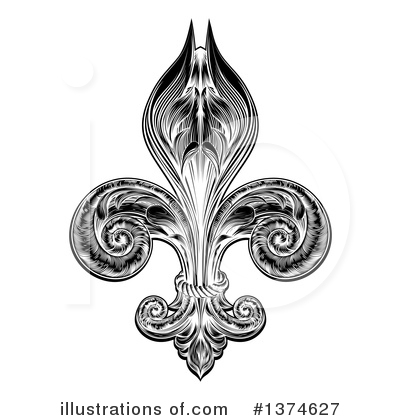 Royalty-Free (RF) Fleur De Lis Clipart Illustration by AtStockIllustration - Stock Sample #1374627
