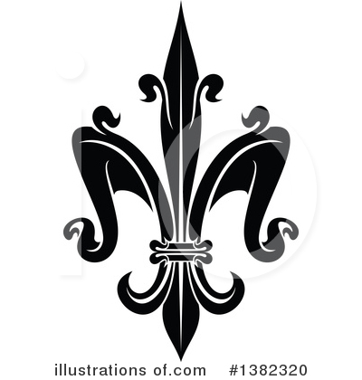 Royalty-Free (RF) Fleur De Lis Clipart Illustration by Vector Tradition SM - Stock Sample #1382320