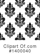 Royalty-Free (RF) Fleur De Lis Clipart Illustration #1400040