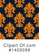 Royalty-Free (RF) Fleur De Lis Clipart Illustration #1403099
