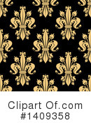 Royalty-Free (RF) Fleur De Lis Clipart Illustration #1409358