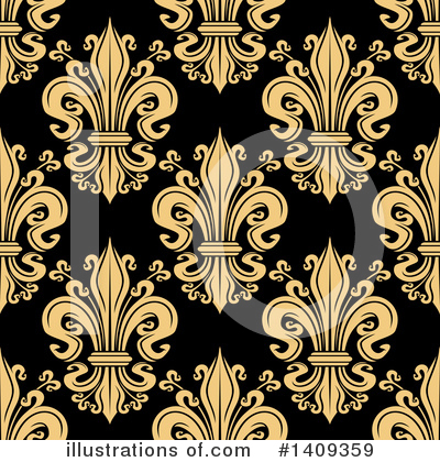 Royalty-Free (RF) Fleur De Lis Clipart Illustration by Vector Tradition SM - Stock Sample #1409359