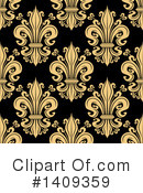 Royalty-Free (RF) Fleur De Lis Clipart Illustration #1409359