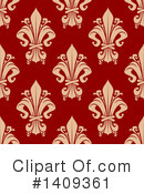 Royalty-Free (RF) Fleur De Lis Clipart Illustration #1409361