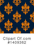 Royalty-Free (RF) Fleur De Lis Clipart Illustration #1409362