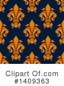 Royalty-Free (RF) Fleur De Lis Clipart Illustration #1409363