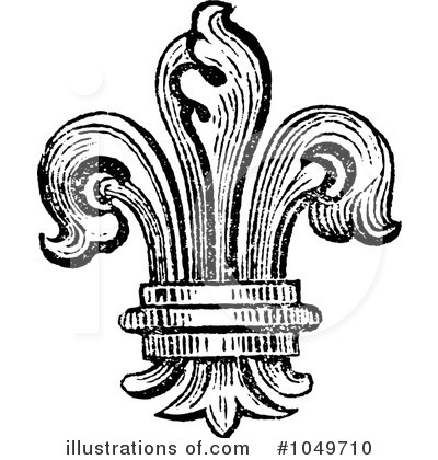 Royalty-Free (RF) Fleur De Lys Clipart Illustration by BestVector - Stock Sample #1049710