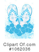 Royalty-Free (RF) Flip Flops Clipart Illustration #1062036