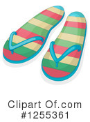 Flip Flops Clipart #1255361 by Graphics RF