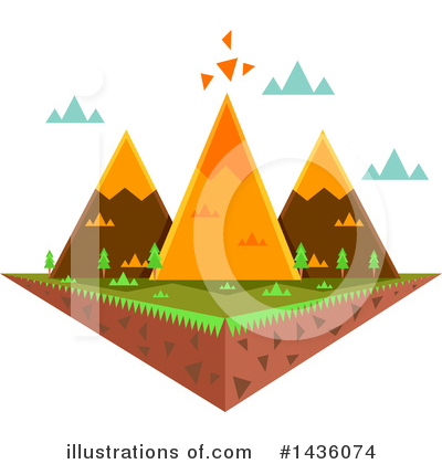 Mountains Clipart #1436074 by BNP Design Studio