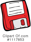 Royalty-Free (RF) Floppy Disk Clipart Illustration #1117853